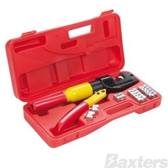 Matson Hydraulic Crimp Tool Kit. Includes 8 Sets Of Interchangeable Dies, 4mm - 70mm