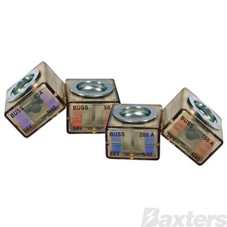 Marine Rated Battery Fuse 58VDC 125A Green