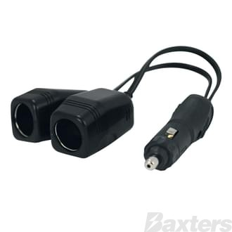 Adaptor With Two DC Socket Output Fuse Protected