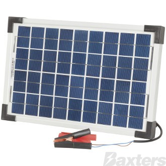 Solar Panel Battery Charger 12V 10W Includes Blocking Diode