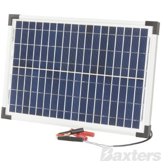 Solar Panel Battery Charger 12V 20W Includes Blocking Diode