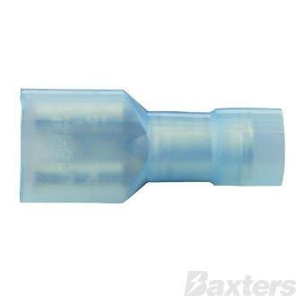 Female Blade Terminals Fully Insulated Clear Blue 6.4 x 0.8mm Pack 100 ** Can Use BCT-0039 **