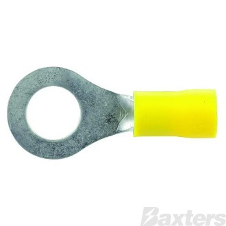 TERMINAL RING 8.3MM YELLOW (PKT 50)