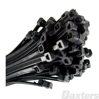 Cable Tie 280MM Black Pack 100 ** Can Use BNCT300HD **