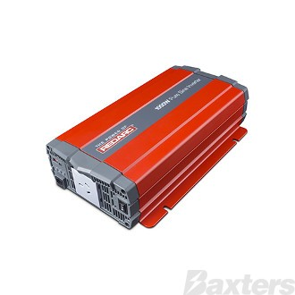 Inverter Redarc 12V DC To 240V AC 1000W Pure Sine Wave