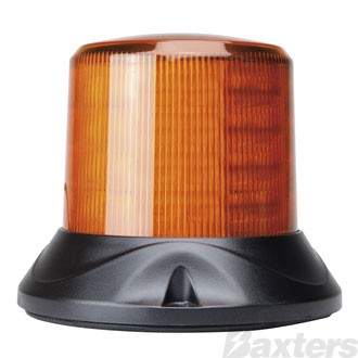 LED Beacon Revolver Maxi Series 10-30V Amber Fixed Mount 64 LEDs 15W 5 Function SAE Class 1