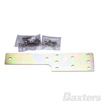 Roadpower Dual Trailer Connector Bracket, Zinc Plated, fits Anderson Connector and Flat Trailer Plug