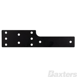 Roadpower Dual Trailer Connector Bracket, Matte Black Powder Coated, fits Anderson Connector and Flat Trailer Plug