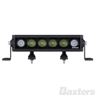 "LED Bar Light 10"" Rollar Series Combo Beam 10-30V 6 x 10W LEDs 60W 5400lm IP67 Slide & End Mount Roadvision"