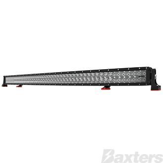 "LED Bar Light 50"" DCX2 Series Curved Combo Beam 10-30V 96 x 3W Osram High Lux LEDs 288W 25920lm IP67 Slide & End Mounts Roadvision Black Label"