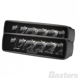 LED Driving Light Set 2 x Spot Beams 10-30V 6 x Osram P8 LEDs EA 1975lm EA IP67 157x60x50mm Roadvision