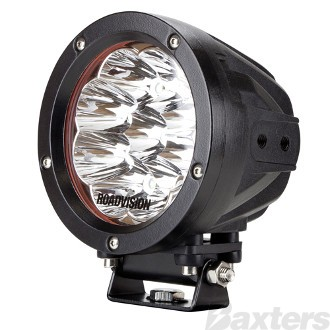 """LED Driving Light 5"""" D Series Spot Beam 9-32V 9 x 5W LEDs 45W 3375lm IP67 with Clear/Spread Covers Roadvision Dominator"""