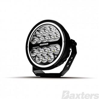 """LED Driving Light 7""""  S7 Stealth Series Spot Beam 10-30V 16 x 3W Osram LEDs 5130lm Halo Ring IP67 TMT 5700K Roadvision"""