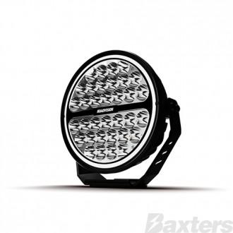"""LED Driving Light 9"""" S9 Stealth Series Spot Beam 10-30v 34 x 3W Osram LEDs 10485lm Halo Ring IP67 TMT 5700K Roadvision"""