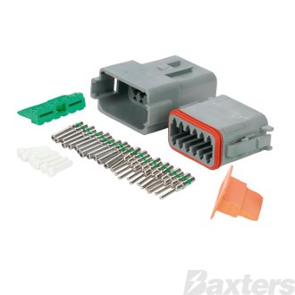 Roadpower DT Type Connector 12 Way. Includes Plug Socket Terminals and Wedges. Single Blister Pack