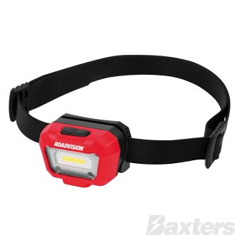 Roadvision LED Head Lamp with Sensor 200lm Micro USB Charge