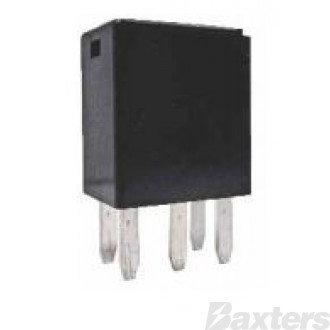 Relay Micro 12V 35/20A 280 Series Change Over Resistor Protected 5 Pin