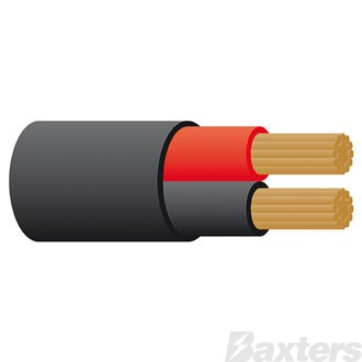 3mm Twin Sheath Cable - Red/Black 100m + 10% Free