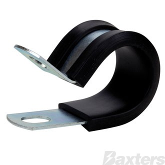 Roadpower Cable Clamp Zinc Plated 25mm EPDM Rubber 15mm Width Hole Size 6.4mm [Pkt of 10]