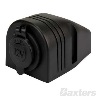 Single DC Accessory/ Cigarette Socket, Surface Mount, 12/24V Input/Output, 20/10A Output