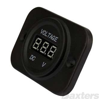 Single Voltmeter, Panel Mount, 6-30V