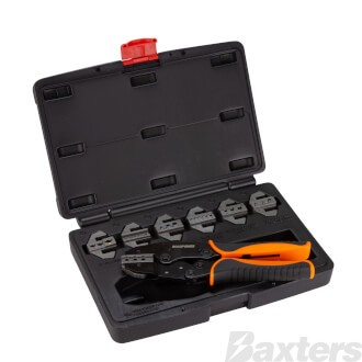Roadpower Ratchet Crimper with Interchangeable Dies Suits Barrel Terminals