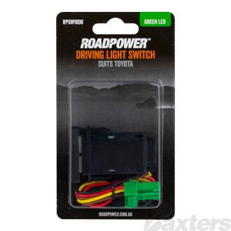 Switch Roadpower Driving Light Suits Toyota Includes Harness 39 x 21mm Green LED