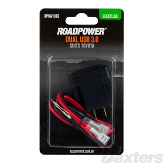 Switch Roadpower USB 3.0 Suits Toyota Includes Harness 39 x 21mm Green LED