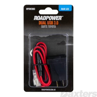 Switch Roadpower USB 3.0 Suits Toyota Includes Harness 33 x 22mm Blue LED
