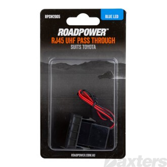 Switch Roadpower RJ45 Passthrough Suits Toyota Includes Harness 33 x 22mm Blue LED