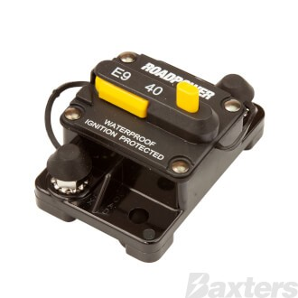 Roadpower Thermal Circuit Breaker 12-48VDC 50A Surface Mount Manual Reset Ignition Protected IP67
