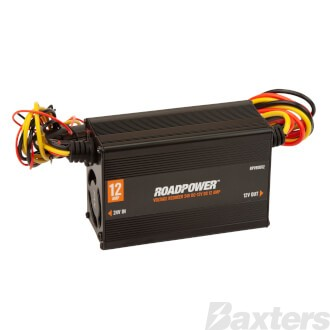 Roadpower Voltage Reducer 24V-12V DC 12A Isolated With Memory Wire Single Circuit