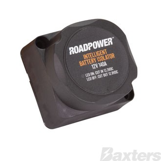 Roadpower Voltage Sensitive Relay 12 Volt 140 Amp IP65 Rated With Optional Manual Overide Wire Suitable For Dual Battery Isolation