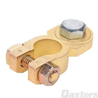 Brass Battery Terminal Heavy Duty Positive