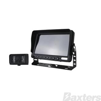 "REAR VIEW CAMERA 12/24V H/D 7"" MONITOR C/W ONE CAMERA 15M CABLE"