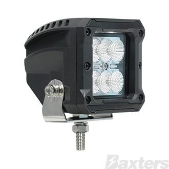 LED Work Light Square Flood Beam 10-30V 6 x 5W CREE LEDs 30W 2400lm IP67 81x76x85mm Roadvision