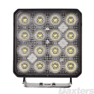LED Work Light Square Flood Beam 10-30V 16 x 6W S8 LED's