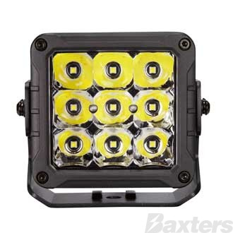 LED Work Light Square Spot Beam 10-30V 9 x 5W P8 LED's