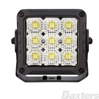 LED Work Light Square Flood Beam 10-30V 36 x 5W P8 LED's