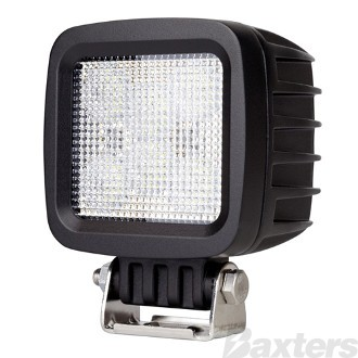 LED Work Light Square Flood Beam 10-30V 6 x 5W LEDs 30W 2700lm IP67 100x82x128mm Roadvision (BWL1130F)