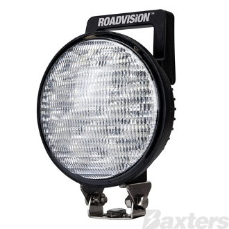 LED Work Light Round Flood Beam 10-30V 12 x 3W LED's 36W 2880lm IP67 145x94x200mm with Handle & Switch Roadvision