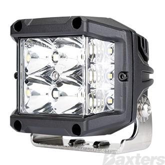 LED Work Light Sidewinder Square Combo Beam 10-30V 4 x 5W + 6 x 1.6W Osram LED's 2100lm 97x73x89mm Roadvision