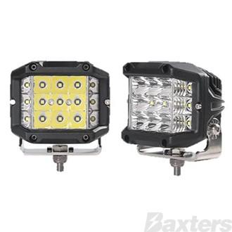 LED Work Light Sidewinder Square Combo Beam 10-30V 15 x 1.6W Osram LED's 24W 1500lm 97x73x89mm Roadvision