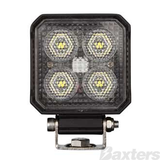 LED Work Light Square Compact Flood Beam 10-30V 4 x 6W Osram LED's TMT
