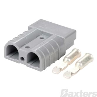Genuine Anderson Power Products 50A Grey Connector with 6AWG Contacts