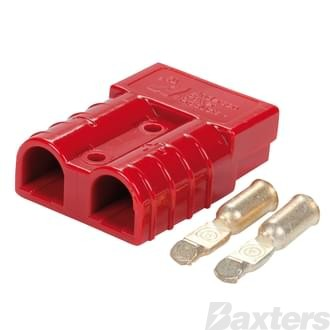 Genuine Anderson Power Products 50A Red Connector with 6AWG Contacts