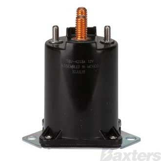 Solenoid Ametek 12V 200A Normally Open Continuous Duty F180 Plastic Base Mount Diode Protected