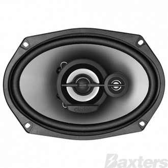 Clarion Multiaxial 3 Way Speakers 6x9 inch Powerful Strontium Magnet For Dynamic Bass Response