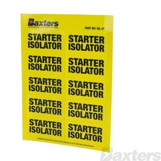 Label Starter Isolator Yellow [10 Pcs Per Sheet]