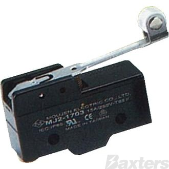 Switch Micro Britax Medium Roller Arm 12V 10A 24V 5A Change Over Contacts